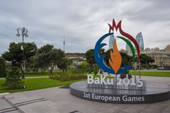 øs jogos europeus em Baku 2015 Foto de Stock Royalty Free