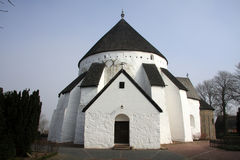 Østerlars rotondi della chiesa, Bornholm Danimarca Fotografia Stock