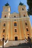 Última basílica barroca en el pueblo viejo Polonia, provincia de Podkarpackie Fotos de archivo