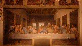 A última ceia por Leonardo da Vinci imagem de stock royalty free