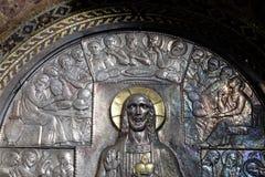 Última cena, altar del corazón sagrado de Jesús en la iglesia del santo Blaise en Zagreb imagenes de archivo