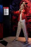 Última figura de cera del mercurio de Freddie de la estrella de rock británico en los tussauds de la señora en Hong-Kong fotos de archivo