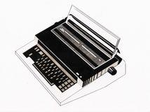 Última geração da máquina de escrever Fotos de Stock