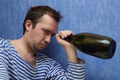 Última gota do vinho Imagens de Stock Royalty Free