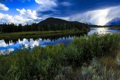 Última hora de la tarde del río Snake Imagen de archivo