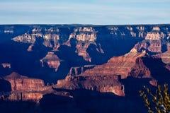 Última hora de la tarde en Grand Canyon Fotografía de archivo libre de regalías