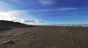 Última hora de la tarde de la playa de Klitmoeller jpg Foto de archivo libre de regalías