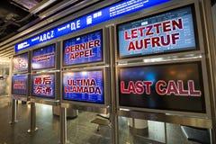 Última llamada en el aeropuerto Foto de archivo libre de regalías