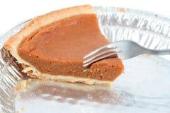 Última parte de torta de abóbora Fotografia de Stock Royalty Free