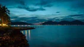 Última puesta del sol Imagen de archivo libre de regalías