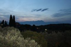 Última tarde en Sirmione en el lago Garda Italia fotografía de archivo libre de regalías