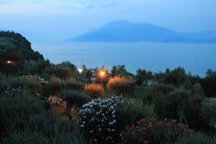 Última tarde en Sirmione en el lago Garda Italia imágenes de archivo libres de regalías