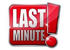 Última tecla vermelha do minut Fotografia de Stock Royalty Free