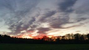 Últimas luzes de um dia de inverno Fotografia de Stock Royalty Free