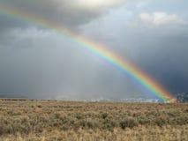 Último arco iris del invierno imagen de archivo