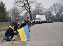 Último _24 de Ruslan Kotsyuk da estrada Foto de Stock