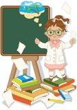 Último dia da escola ilustração royalty free