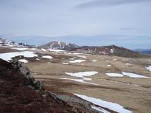Último invierno en el Massif Central en Francia Foto de archivo libre de regalías