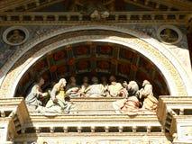 Último jantar, Cathedrale Notre-Dama-de-l'Assomption, Aoste (Italia) Fotografia de Stock Royalty Free