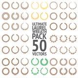 Último Laurel Wreath Pack 50 vectores imágenes de archivo libres de regalías