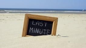 Último minuto escrito Imagens de Stock