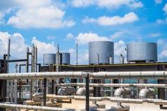 Último piso de la caldera en central eléctrica de gas combustible Imagen de archivo libre de regalías
