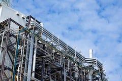 Último piso de la caldera o HRSG de la central eléctrica del ciclo de la cosechadora Imágenes de archivo libres de regalías
