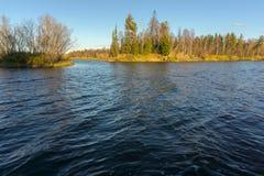Último río Yagenetta del otoño Imagen de archivo libre de regalías