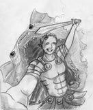 Último selfie de um herói ilustração royalty free