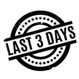 Último sello de goma de 3 días Imagen de archivo libre de regalías