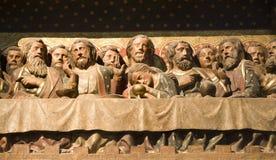 Último super de christ de Notre Dame em Paris imagens de stock