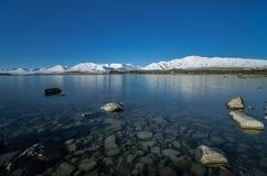 Último Tekapo durante invierno Imagen de archivo