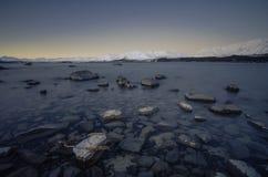 Último Tekapo durante invierno Fotos de archivo libres de regalías
