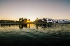 Último Tekapo durante invierno Fotos de archivo