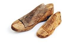 Últimos de madera del zapato aislados en el fondo blanco Imagen de archivo