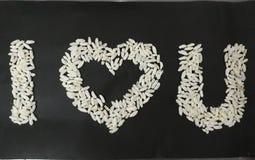 Últimos dos arrozes tufados eu amo u imagens de stock