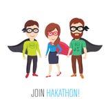 Únase a Hackathon programado Imagen de archivo