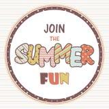Únase a la muestra del vector de la diversión del verano Imágenes de archivo libres de regalías