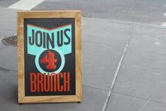 Únase a nos el brunch 4 Foto de archivo