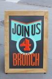 Únase a nos el brunch 4 Imágenes de archivo libres de regalías
