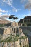 Única árvore na borda da garganta Imagem de Stock Royalty Free