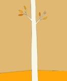 Única árvore no outono ilustração do vetor