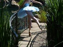 Única bailarina Imagem de Stock