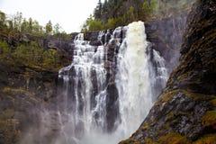 Única cachoeira, rio norte, Noruega Imagem de Stock Royalty Free