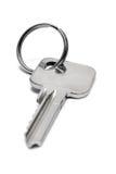 Única chave do apartamento com anel (vista dianteira) Fotografia de Stock
