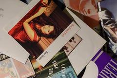Única coleção do vintage das estrelas de cinema e do artista famoso no 1990: s foto de stock
