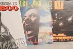 Única coleção do vintage das estrelas de cinema e do artista famoso no 1990: s fotos de stock royalty free