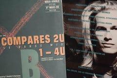 Única coleção do vintage das estrelas de cinema e do artista famoso no 1990: s imagens de stock