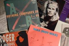 Única coleção do vintage das estrelas de cinema e do artista famoso no 1990: s imagens de stock royalty free
