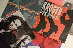 Única coleção do vintage das estrelas de cinema e do artista famoso no 1990: s foto de stock royalty free